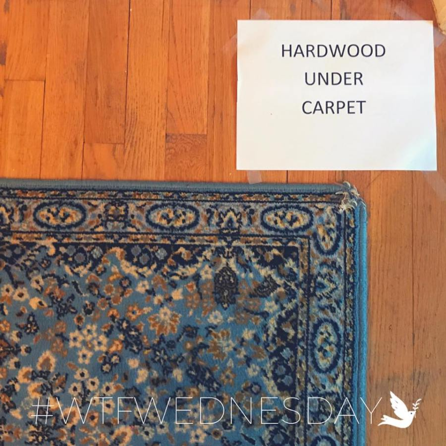 Hardwood Under Carpet